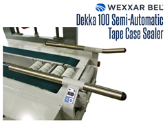 The DEKKA 100 is able to handle a wide range of case sizes and can easily be changed to adapt different cases with a quick 2 point size change over.