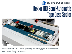The DEKKA 100 has a bottom belt uni-drive system, allowing for consistent seals over long term use