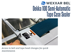 The DEKKA 100 features easy access to belt and tape head changes for fast maintenance