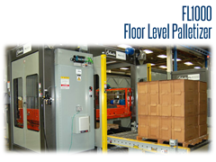 FL1000 can handle a wide variety of package types, including cases, trays, totes, bundles, bales, plastic containers, crates, small cases, shrink film and display packs with no modification