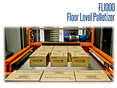 FL1000 is an ideal pairing with case packers and case sealers