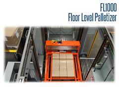 FL1000 floor level palletizers are available in countless layout possibilities and provide consistent performance.
