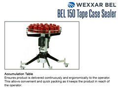The BEL 150 optional accumulation table ensures product is delivered continuously and ergonomically to the operator. This allows convenient and quick packing as it keeps the product in reach of the operator.