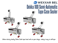 The Dekka 100 utilizes the industry leading Dekka Cadet tape head, which has an open design, making it easy to refill tapes.