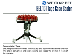The BEL 151 optional accumulation table ensures product is delivered continuously and ergonomically to the operator. This allows convenient and quick packing as it keeps the product in reach of the operator.