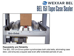 Repeatability and Reliability Wexxar/Bel's Uni-Drive System synchronizes both side belts, eliminating case skew, ensuring a square seal even after extended periods of use.