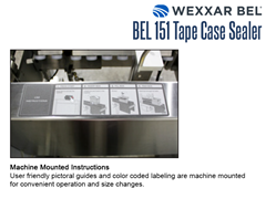 On Machine Instructions: User-friendly pictorial guides and color coded labelling for convenient operation and size changes.