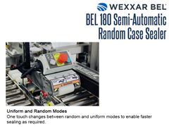 The BEL 180 features a one touch button to change between random and uniform modes to enable faster sealing as required