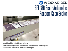 The BEL 180 has user friendly pictoral guides  and color coded labeling mounted on the unit