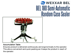 The BEL 180 offers an accumulation table option, which ensures that product is delivered continuously and ergonomically to the operator.