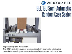 The BEL 180's Uni-Drive system synchronizes both side belts, eliminating case skew, ensuring a square seal even after extended periods of use.