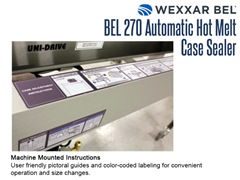 Machine mounted instructions are prominently placed on the BEL 270.