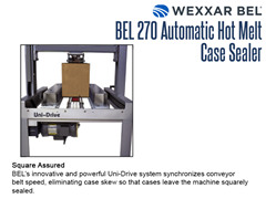 Square sealing is assured with the BEL 270 uni-drive system.