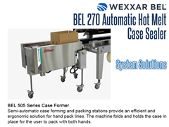 BEL 270 Offers a complete system solution with the BEL 505 Series Case Former