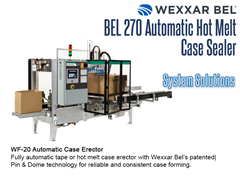 BEL 270 Offers a complete system solution with the WF20 automatic case erector