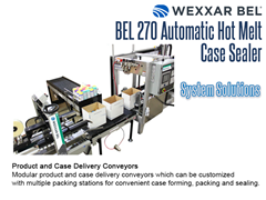 BEL 270 Offers a complete system solution with product and case delivery conveyors