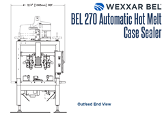 BEL 270 Outfeed End View Schematic