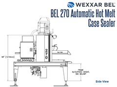 BEL 270 Outfeed Side View Schematic