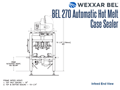 BEL 270 Infeed End View Schematic