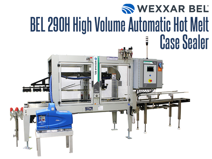 The BEL 290H is a heavy duty, fully automatic hot melt case sealer designed to handle around the clock high speed applications.   Designed to efficiently fold and seal a wide variety of case sizes, it can be used for top only gluing or top and bottom sealing.