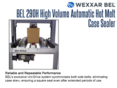 The BEL 290H Uni-Drive system synchronizes both side belts, eliminating case skew