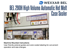 The BEL 290H Machine Mounted Instructions provide a user-friendly pictoral guide and color coded labeling chart.