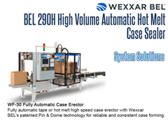 BEL 290H offers a complete solution paired with a WF30 Case Erector