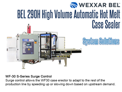 Complete Systems can be obtained by pairing a BEL 290H with a WF30 S Series Surge Control Case Erector Accessory