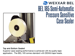 The BEL 185 provides top and bottom sealing with standard DEKKA tape heads