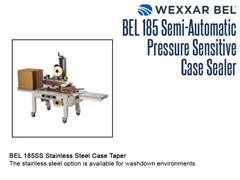 The BEL 185SS Stainless Steel Case Taper Option for washdown environments