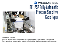 The BEL 252's Snap Folder keeps operators safe while freeing the machine from guards, reducing the machine size and allowing easy maintenance.