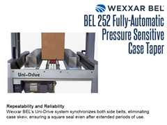 The BEL 252's Uni-Drive system synchronizes both side belts, eliminating case skew, resulting in a square seal time after time.
