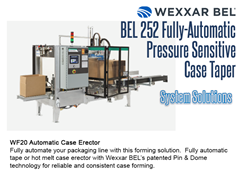 The BEL 252 can be combined with a Wexxar WF20 Case Erector for a complete systems solution.