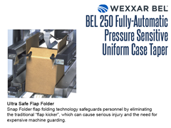 The BEL 250's ultra safe Snap Folder technology safeguards personnel by eliminating flap kickers which can cause injury and the need for expensive machine guarding.