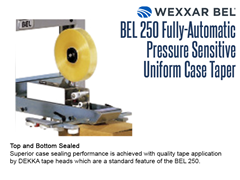 The BEL 250 provides superior case sealing performance with its quality tape application via DEKKA tape heads.