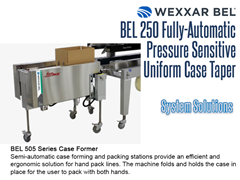 Pair the BEL 250 case sealer with the BEL 505 series case former for a complete system solution!