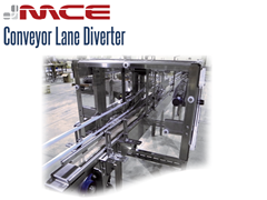 Lane diverters divide containers and packages from infeed lanes to multiple discharge lanes, at high speeds with efficiency, care, and accuracy