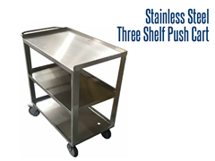 Whether your carts are being used in your baking facility or transporting totes throughout a factory, we deliver solutions to your material handling needs.