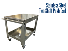 Picture for Stainless Steel Two Shelf Push Cart