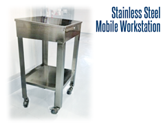 Our stainless steel workstations are designed to accommodate specific purposes and fit into nearly any footprint.