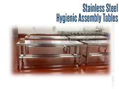 Stainless Steel, Hygienic Assembly Table