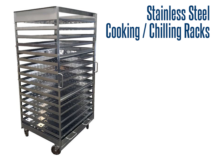 Our industrial stainless steel cooking and chilling racks are designed for use in the food service industry.  They are designed to handle extreme temperatures found in refrigeration and oven units.