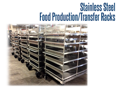 Stainless Steel, Food Grade Product Transfer Cart