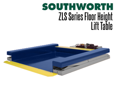 """The pan style platform of the ZLS Series is only .375"""" above the floor, making it ideal for loading and unloading"""
