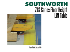 The ZLS Series is a hand pallet truck accessible lift table.