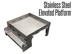 Our industrial stainless steel platform is designed to provide employees easy access in elevated work areas.