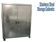 Tall, Locking Door Stainless Steel Storage Unit