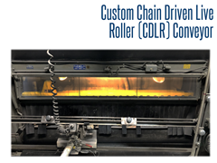 The custom CDLR conveyor system was specifically designed to withstand the harsh environment of a blast room for a monument company.