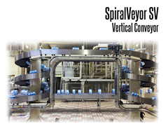 The SpiralVeyor SV Series Vertical Conveyor's continual motion provides a superior advantage for unstable products and high production speeds.