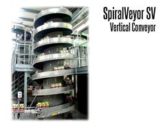 SpiralVeyor SV Vertical Conveyor conveying soda bottles